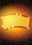 Affichemalplaatje met retro casinobanner Ontwerp voor presentati Stock Afbeelding