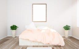 affichemodel op roze slaapkamer royalty-vrije stock afbeelding