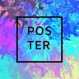 Afficheontwerp met in kleurenvorm Stock Fotografie