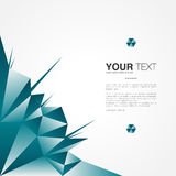 Afficheontwerp met uw tekst, minimale abstracte achtergrond stock illustratie