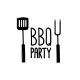 Afficheontwerp voor de Barbecuepartij Stock Afbeeldingen