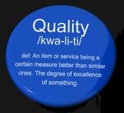 Afficher de bouton de définition de qualité excellent illustration libre de droits
