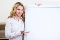 Afficher de femme d'affaires vide photos libres de droits