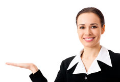 Afficher la femme d'affaires, d'isolement photos libres de droits