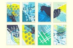 Affiches abstraites universelles réglées Image stock