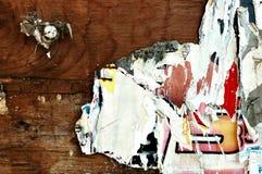 Affiches déchirées Photo stock