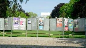 2019 affiches d'?lection du Parlement europ?en en parc banque de vidéos