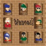 Affiches d'un bandit voulu Image stock