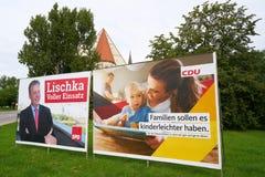 Affiches de campagne électorale Images libres de droits