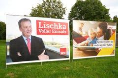 Affiches de campagne électorale Photos stock