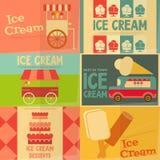 Affiches de crème glacée  Photos stock