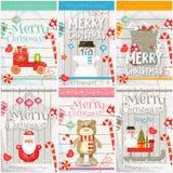 Affiches de Joyeux Noël Image libre de droits