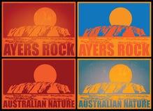 Affiches de roche d'Ayers Photographie stock libre de droits