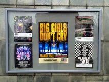 Affiches de théâtre en Angleterre Image libre de droits
