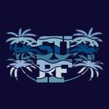 Affiches de typographie de ressac Conception de mode de T-shirt Images libres de droits