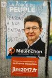 Affiches officielles de campagne de Jean-Luc Melencho Images stock