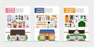 Affiches plates de magasins Photos libres de droits