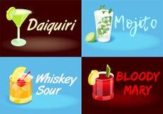 Affiches réglées de cocktail illustration libre de droits
