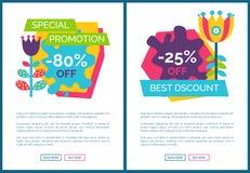 Affiches totales de la meilleure qualité de vente de promotion spéciale réglées illustration stock