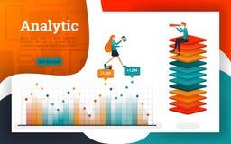 Affiches of webpagina's voor analyse en financiële doeleinden royalty-vrije illustratie