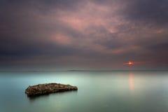 Affichez le brise-lames de mer Photos libres de droits