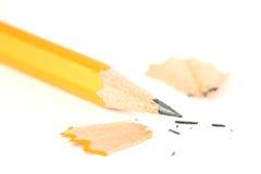 Plan rapproché affilé de crayon image libre de droits