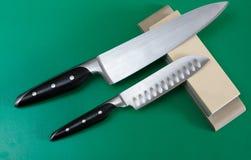 Affilage de couteau Images libres de droits
