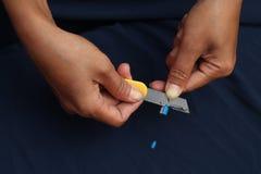 Affilez le crayon, la version 6 photo libre de droits