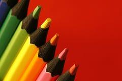 Affilez les crayons Photo libre de droits