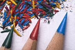Affilez les crayons images libres de droits