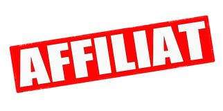 Affiliat. Stamp with word affiliat inside,  illustration Royalty Free Stock Photography