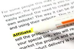 Affiliate Royalty Free Stock Images