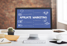 Affiliate Affiliation Marketing Business Technology Concept Stock Photography