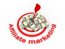 Affiliate marketing. Concept in 3D Royalty Free Stock Image