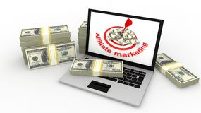 Affiliate marketing. Concept in 3D Royalty Free Stock Images