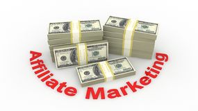 Affiliate marketing. Concept in 3D Royalty Free Stock Photography
