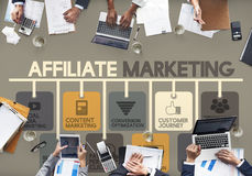 Affiliate Marketing Advertising Commercial Concept royalty free stock photo