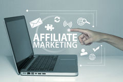 Affiliate Marketing. Affiliates business concept in office Stock Photos