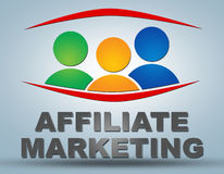 Affiliate Marketing. Communication concept with sign and text royalty free illustration