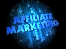 Affiliate Marketing Concept on Digital Background. Affiliate Marketing Concept - Blue Color Text on Dark Digital Background Royalty Free Stock Photo