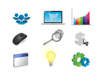 affiliate marketing concept icon set illustration Stock Photo
