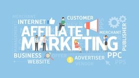Affiliate marketing concept. Stock Image
