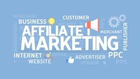 Affiliate marketing concept. stock illustration