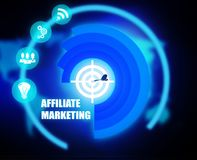 Affiliate Marketing concept plan graphic. Background Royalty Free Stock Photo