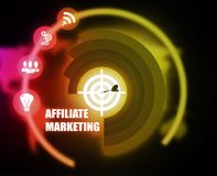 Affiliate Marketing concept plan graphic. Background Royalty Free Stock Photography