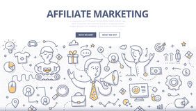 Affiliate Marketing Doodle Concept Royalty Free Stock Photo