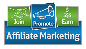 Affiliate Marketing Green Blue Squares Royalty Free Stock Photo