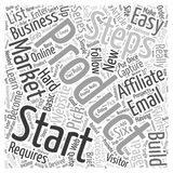 Affiliate Marketing How to get started in 6 easy steps word cloud concept  background Stock Photography