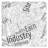 Affiliate Marketing Internet Industry 295 word cloud concept  background Royalty Free Stock Images