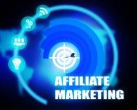 Affiliate Marketing concept plan graphic. Affiliate Marketing Marketing Concept plan graphic background Stock Photo